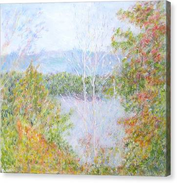 Autumn By The Lake In New Hampshire Canvas Print