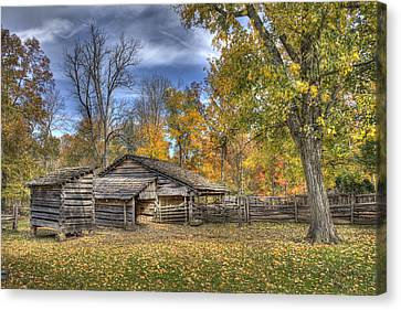 Canvas Print featuring the photograph Autumn In Southern Indiana by Wendell Thompson
