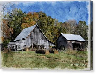 Autumn In Tennessee Canvas Print by Benanne Stiens