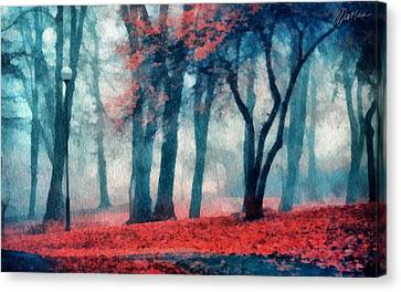 Autumn In The City Canvas Print by Marina Likholat