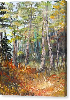 Autumn In The Forest Canvas Print by Dorothy Maier