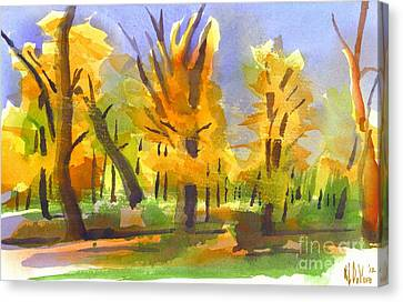 Autumn In The Forest Canvas Print by Kip DeVore