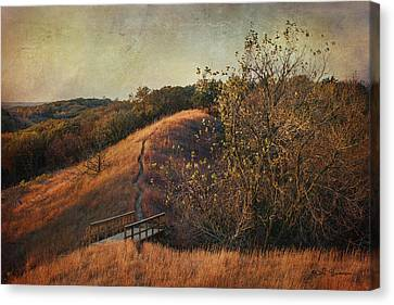 Autumn In The Loess Hills Canvas Print by Jeff Swanson