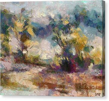 Autumn In The Meadow Canvas Print by Dragica  Micki Fortuna