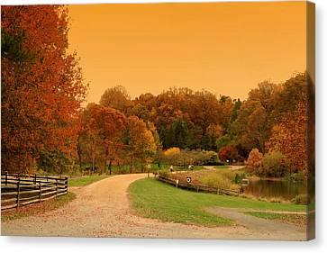 Autumn In The Park - Holmdel Park Canvas Print