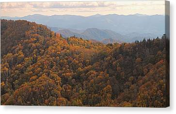 Autumn In The Smoky Mountains Canvas Print by Dan Sproul