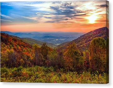 Autumn In Virginia Canvas Print by Phil Abrams