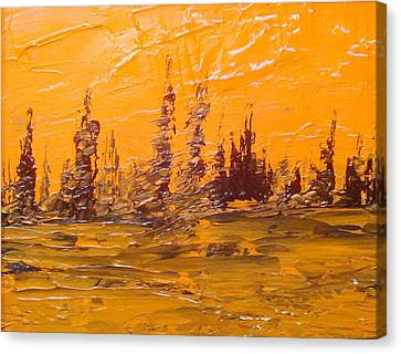Autumn Inspired Sky Canvas Print