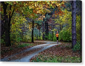 Autumn Jog Canvas Print