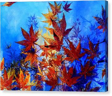 Wind Blown Tree Canvas Print - Autumn Joy by Hanne Lore Koehler