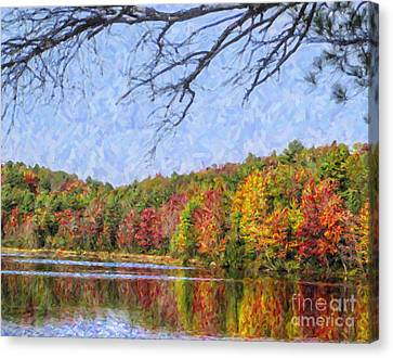 Autumn Lake New England Usa Canvas Print