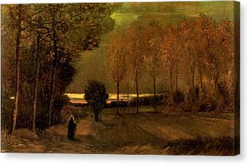 Autumn Landscape At Dusk 1885 Canvas Print by Vincent Van Gogh