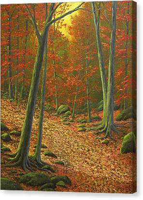 Autumn Leaf Litter Canvas Print by Frank Wilson