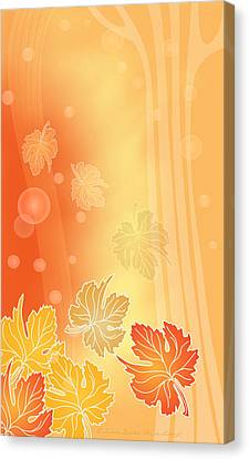 Autumn Leaves Canvas Print by Gayle Odsather