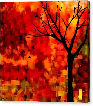 Autumn Leaves Canvas Print by Lourry Legarde