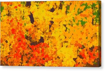 Reds Of Autumn Canvas Print - Autumn Leaves Pop Art by Dan Sproul