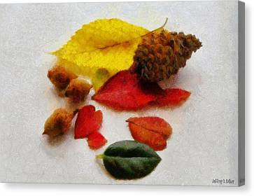 Autumn Medley Canvas Print by Jeff Kolker