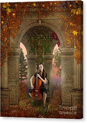 Melancholy Canvas Print - Autumn Melody by Peter Awax