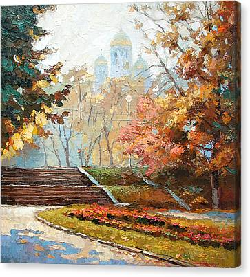 Canvas Print featuring the painting Autumn Midday by Dmitry Spiros
