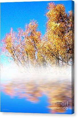 Canvas Print featuring the photograph Autumn Mist by Cristophers Dream Artistry