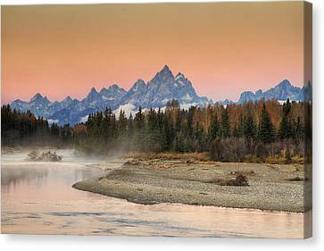Autumn Mist Canvas Print by Mark Kiver