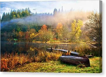 Tom Schmidt Canvas Print - Autumn Mist by Tom Schmidt