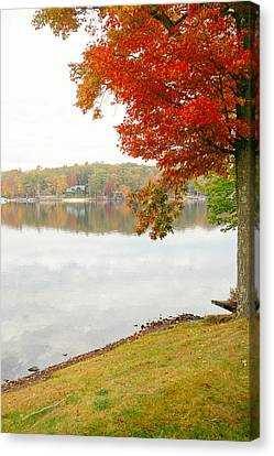 Autumn Morning At The Lake - Pocono Mountains - Pennsylvania Canvas Print by Vivienne Gucwa