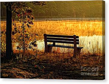 Autumn Morning At The Lake Canvas Print