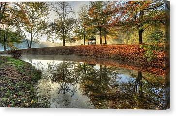 Autumn Morning Canvas Print by Jaki Miller