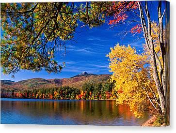 Autumn Mt Chocorua Nh Canvas Print by Michael Hubley