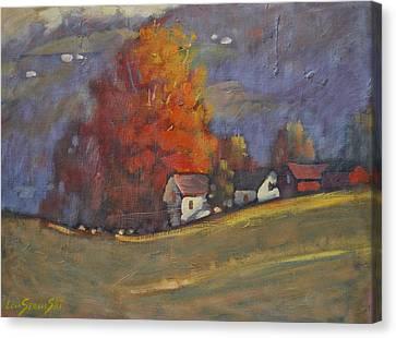 Autumn On Airyhill Canvas Print by Len Stomski