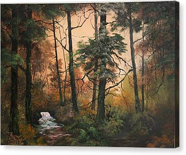 Cannock Chase Canvas Print - Autumn On Cannock Chase by Jean Walker