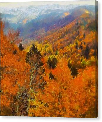 Autumn On Fire In The Mountains Canvas Print