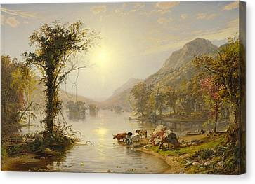Autumn On Greenwood Lake Canvas Print by Jasper Francis Cropsey
