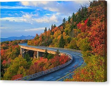 Autumn On Linn Cove Viaduct  Canvas Print