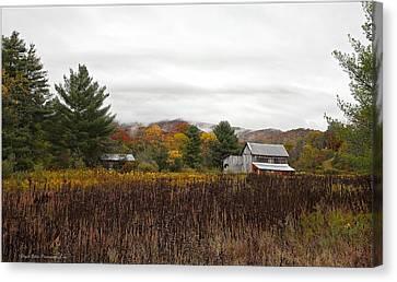 Autumn On The Farm Canvas Print