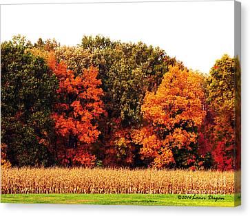 Autumn On The Farn Canvas Print by EGiclee Digital Prints