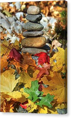 Autumn On The Rocks 2 Canvas Print by Donna Kennedy