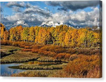 Kathleen Canvas Print - Autumn On The Snake by Kathleen Bishop