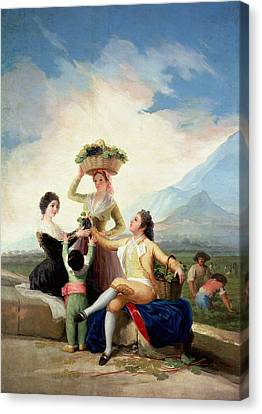 Autumn, Or The Grape Harvest, 1786-87 Oil On Canvas Canvas Print by Francisco Jose de Goya y Lucientes