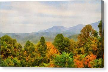Autumn Palette In The Smokies Canvas Print by Dan Sproul