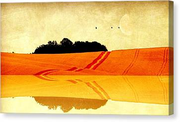 Farm Fields Canvas Print - Autumn Panorama by Heike Hultsch