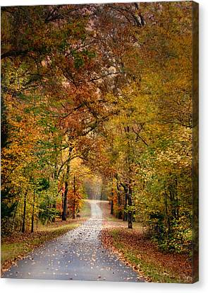 Autumn Passage 4 - Fall Landscape Scene Canvas Print