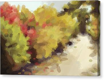 Autumn Path Central Park New York Canvas Print by Beverly Brown