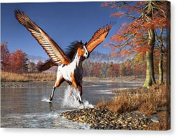 Autumn Pegasus Canvas Print by Daniel Eskridge