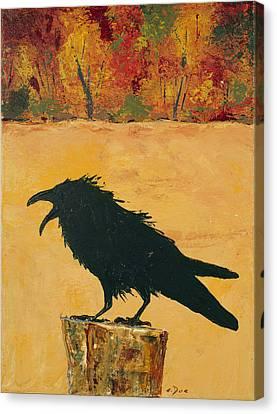 Autumn Raven Canvas Print