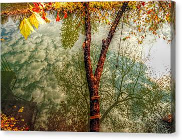 Autumn Reflection  Canvas Print by Peggy Franz