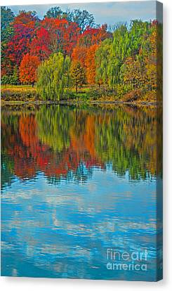 Autumn Reflection Canvas Print by Todd Breitling