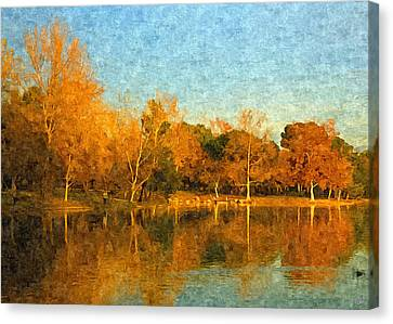 Autumn Reflections Canvas Print by Angela A Stanton