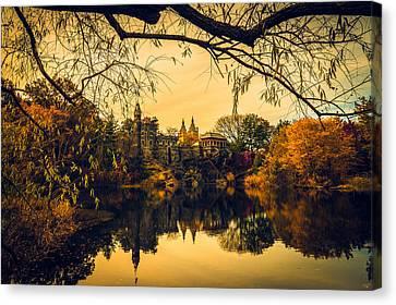 Autumn Reflections At Belvedere Castle Canvas Print